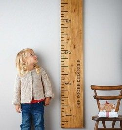 Child with ruler