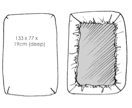 The Tommy Cot Sheet Size Chart